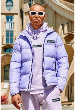 Lilac MAN Branded Hand Filled Puffer
