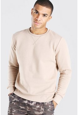 Stone Basic Crew Neck Sweatshirt