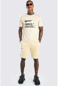 Ensemble t-shirt et short imprimé Summer 2020 Man, Roche