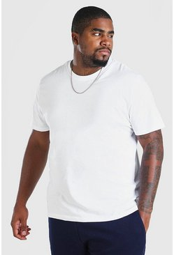 White Big And Tall Basic T-Shirt