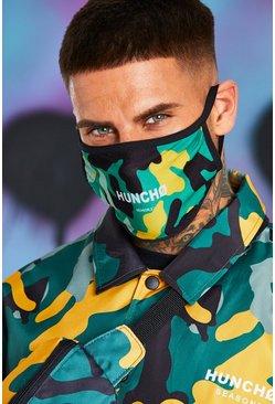Yellow Quavo Camo Print Fashion Mask