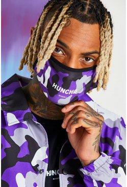 Purple Quavo Camo Print Fashion Mask