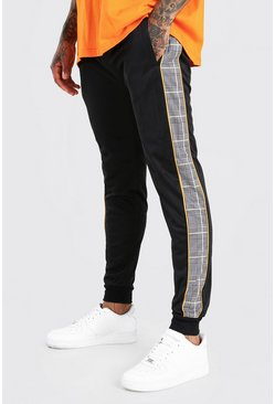 Mustard Skinny Fit Jogger With Jacquard Side Panel