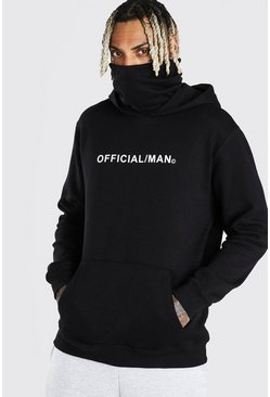 Black Man Official Snood Hoodie