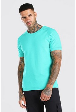 Green Short Sleeve Sweatshirt