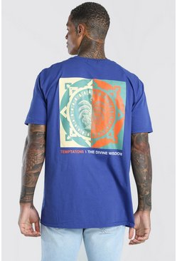 Blue Divine Wisdom Oversized T-Shirt