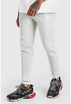 Stone MAN Skinny Pintuck Jogger With Embroidered Cuff