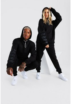 Black Abode Oversized Hooded Tracksuit
