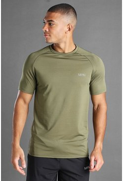 MAN Active Raglan-T-Shirt, Khaki