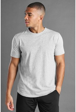 Kurzärmeliges Active Fitness T-Shirt, Grau