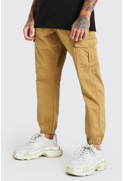 Sand Loose Fit Cuffed Cargo Trouser