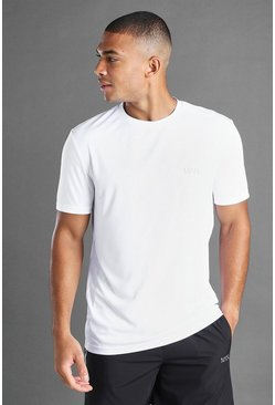 White MAN Active T-Shirt With Mesh Panel