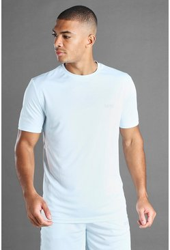 T-shirt HOMME Active à empiècement en filet, Bleu