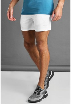 MAN Active Shorts mit MAN-Bunddetail, Weiß