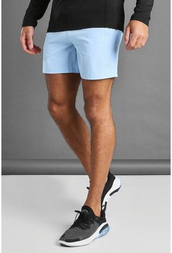 MAN Active Shorts mit MAN-Bunddetail, Blau