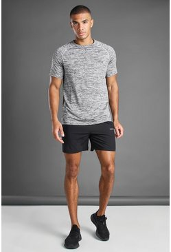 Ensemble t-shirt et short mélangé MAN Active, Gris