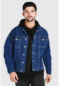 Mid blue Oversized Denim Jacket
