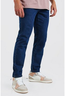 Mid blue Slim Rigid Jeans