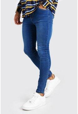 Mid blue Spray On Skinny Jeans