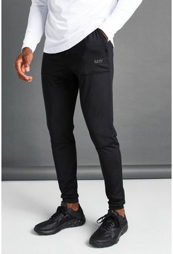Black MAN Skinny Jogger With Seam Detail