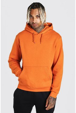 Orange Basic Over The Head Hoodie