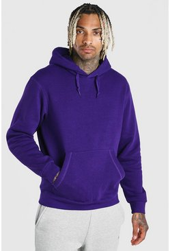 Purple Basic Over The Head Hoodie