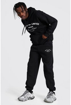 Black Man Limited Edition Print Hooded Tracksuit