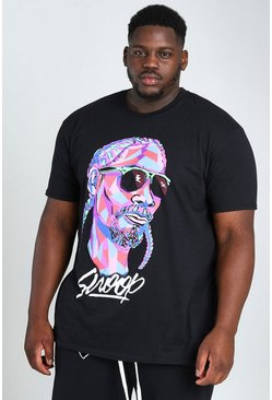 Black Big & Tall Snoop Shapes License T-Shirt