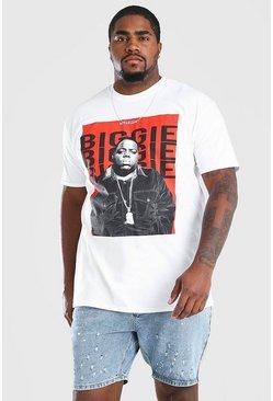White Big & Tall Red Box License T-Shirt