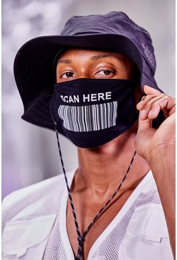 Scan Here Fashion Mask, Black
