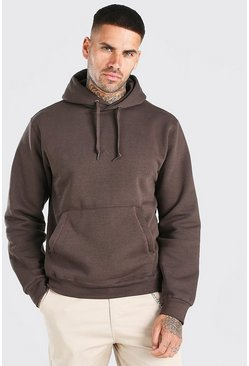Brown Basic Over The Head Hoodie