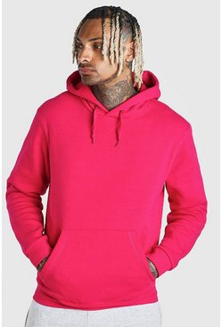 Pink Basic Over The Head Hoodie