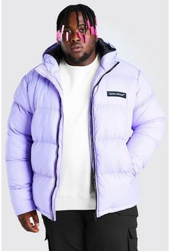 Lilac Plus Size MAN Branded Hand Filled Puffer