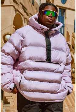 Lilac Big & Tall Over The Head Padded Puffer