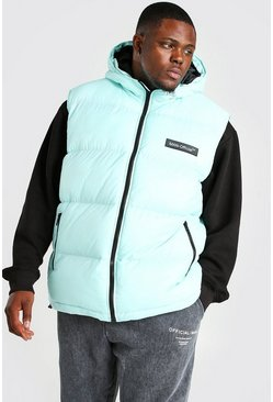 Mint Big & Tall MAN Branded Padded Gilet