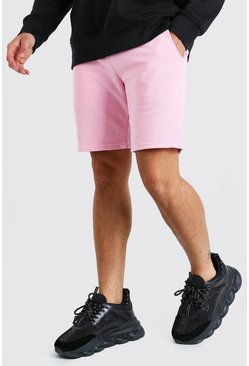 Mid Length Jersey Short With MAN Drawcords, Light pink