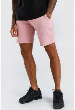 Mid Length MAN Signature Drawcord Jersey Short, Mauve