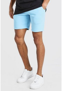 Light blue Roman MAN Elastic Waist Jersey Short