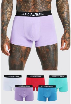 Multi 5 Pack Boxer With Official Man Waistband