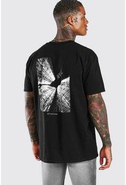 Black Oversized NYC Back Print T-Shirt