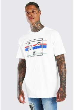 White Oversized NYC Graphic Print T-Shirt