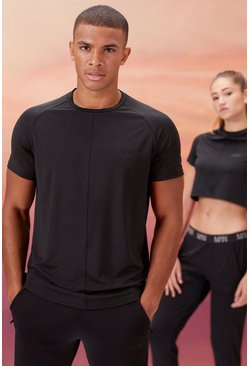 Black His Active T-Shirt With Airtex Panel