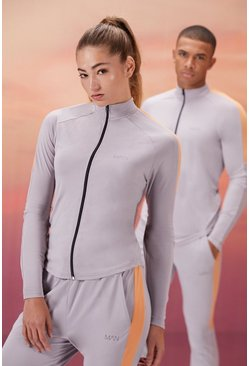 Grey Hers Active 1/4 Zip Funnel Neck With Notch Neck