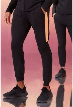 Black His Active Skinny Fit Jogger