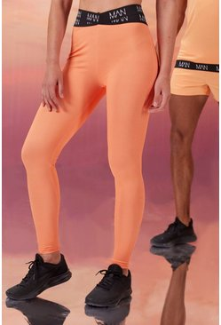 Peach Hers Active Tight With Cross Waistband Detail