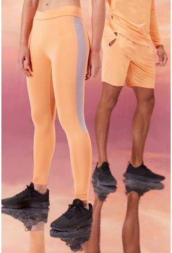 Peach Hers Active Tight With Crossed Waistband