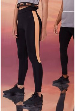 Black Hers Active Tight With Crossed Waistband