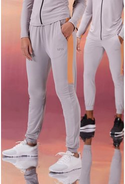 Grey Hers Active Skinny Fit Jogger With Side Panel