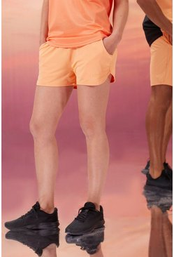Peach Hers Active Runner Short With Man Waistband