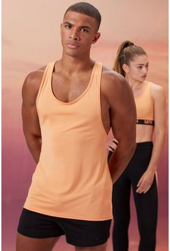 Peach His Active Racer Back Vest With Scoop Neck